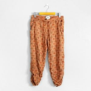 AMERICAN RAG Orange Ruched Ankle Patterned Pant